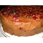 Шоколадно-вишнево-черничный торт