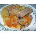 Свиные ребрышки с овощами
