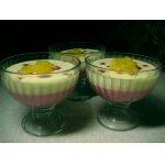 Бруснично-манговый десерт