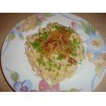 Макароны с сыром, капустой и куриным филе