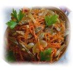Корейское блюдо Хе из мяса