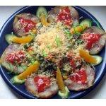 Салат с копченой скумбрией Летняя искра