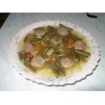Супчик с зеленой фасолью и фрикадельками