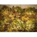 Котлеты, запеченные с грибами и сыром
