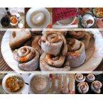 Гречишные булочки Улитки с курагой и орехами