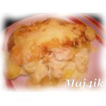 Сливочно-картофельный гратен с лососем