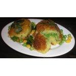 Котлеты картофельные с зеленым горошком