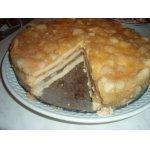 Пирог с яблоками разноцветный