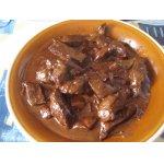 Печень говяжья в сливочно-коньячном соусе