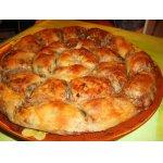Мясной спиральный пирог