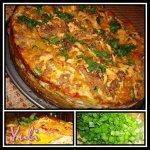 Хрустящий пирог с овощами и креветками