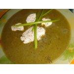Зеленый крем-борщ с яйцами-пашот