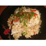 Судак на пару с бурым рисом