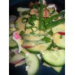 Салат из овощей с горчичным соусом