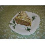 Печеночный торт с сырно-кефирным кремом
