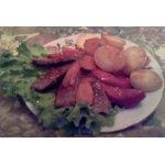 Мясо с овощами в соусе Ткемали