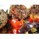 Турецкие котлеты Кефте с овощным гарниром