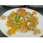 Мандариновый салатик с тигровыми креветками