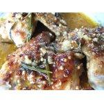 Куриные крылышки в чесночно-пивном соусе