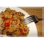 Пряный дикий рис с паприкой и ананасом