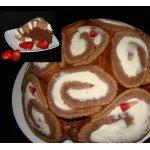 Заливной торт с клубникой и маскарпоне