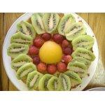 Песочный торт с фруктами в желе