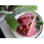 Десерт ревенно-творожный с клубничной подливкой