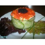 Салат в виде тортика