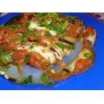 Баклажаны, фаршированные сыром и томатами