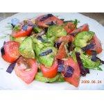 Салат с помидорами и печеными кабачками