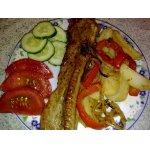 Грудинка, маринованная и запеченная с овощами