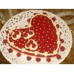 Десерт Малиновое сердце