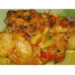 Рыба с овощами, томленная в духовке