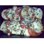 Хлебная запеканка с помидорами