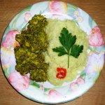 """Coriander Chicken - индийское ресторанное блюдо """"Цыплeнок в зелени"""""""