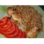 Гречка с курицей, томленная в духовке