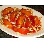 Персики в карамели Жильбер