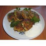 Кабачково-грибные лепешки