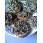 Гренки с грибами