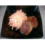 Бифштекс с морковью и сыром