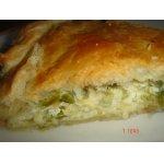 Луковый слоеный пирог