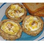 Картофельные гнезда с перепелиными яйцами