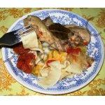 Курица в томате с домашней лапшой