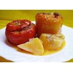 Фаршированные помидоры с перцем Гемиста