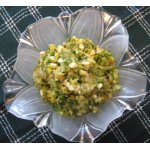 Салат из жареных цуккини с яйцом