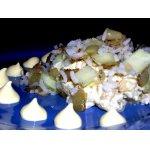 Салатик с копченой скумбрией