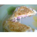 Пирожки слоеные с ветчиной и сыром