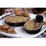 Тарталетки из шоколада с финиками и черносливом