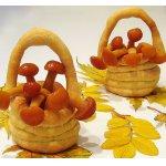 Тарталетки  «Грибное лукошко»