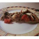 Пицца с курицей и грибами
